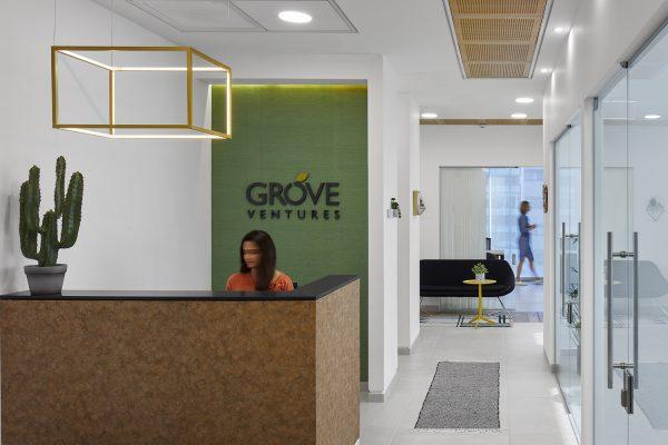 תכנון ועיצוב משרדי חברת Grove Ventures  קרן הון סיכון בהנהלת דב מורן
