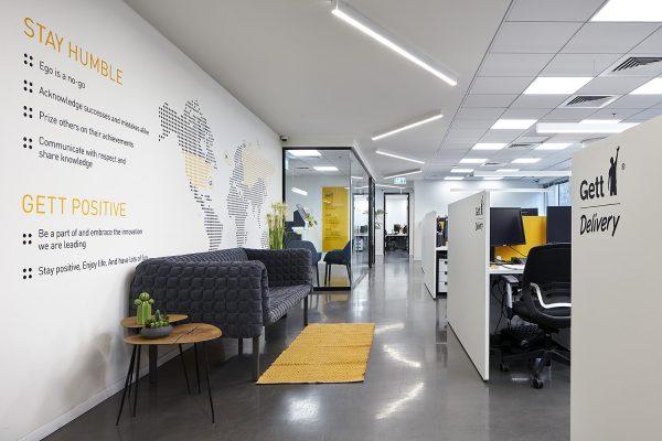 תכנון ועיצוב משרדי חברת GETT
